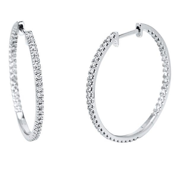 18 kt fehérarany fülbevaló 94 gyémánttal 2J288W8-1