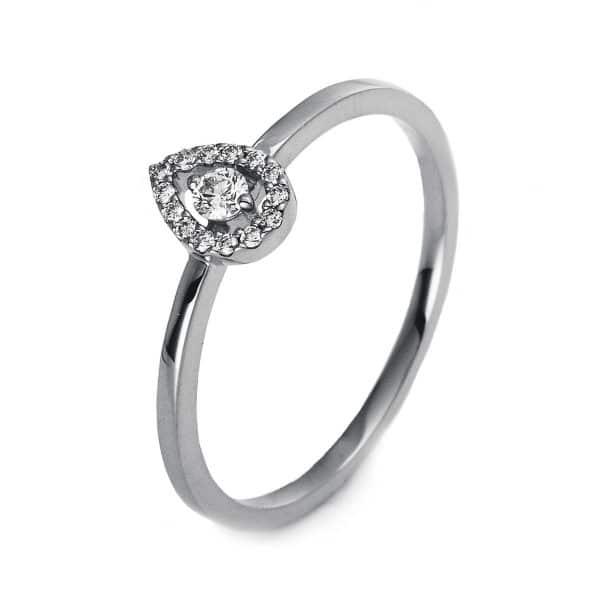 18 kt fehérarany illúzió 15 gyémánttal 1O510W855-3