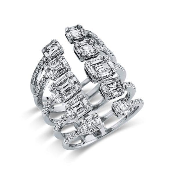 18 kt fehérarany illúzió 152 gyémánttal 1S446W854-1