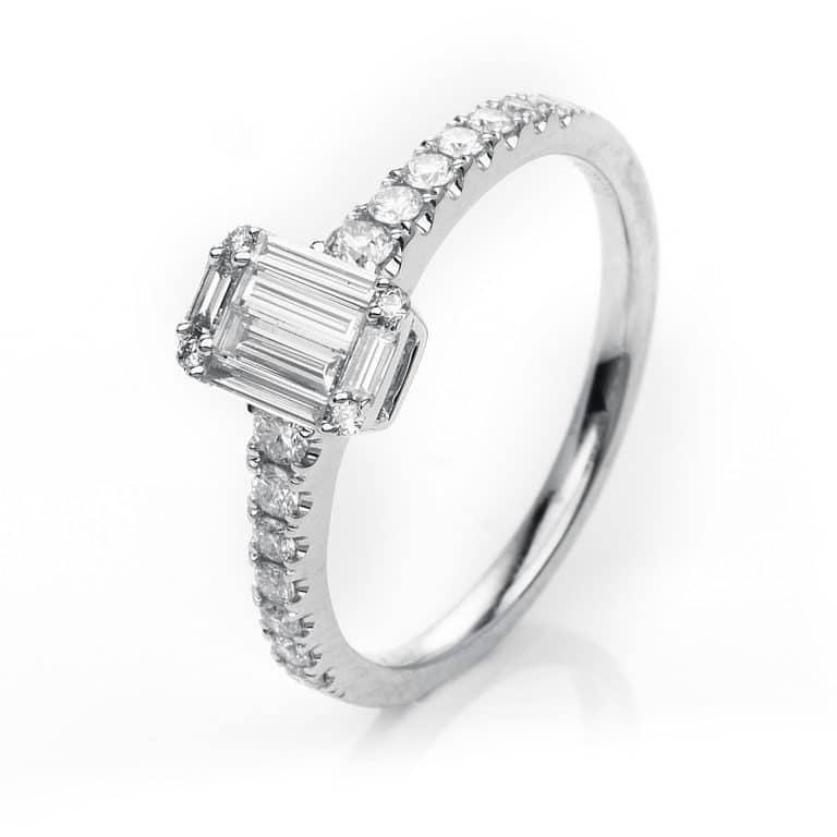 18 kt fehérarany illúzió 23 gyémánttal 1H525W859-1