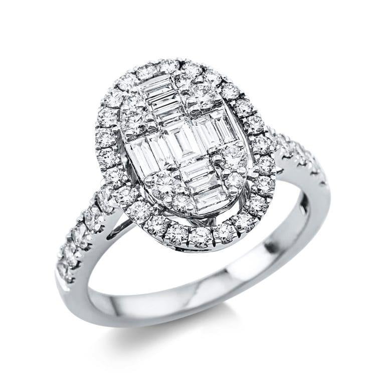 18 kt fehérarany illúzió 53 gyémánttal 1V396W854-1