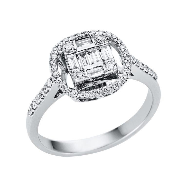 18 kt fehérarany illúzió 55 gyémánttal 1V335W853-1
