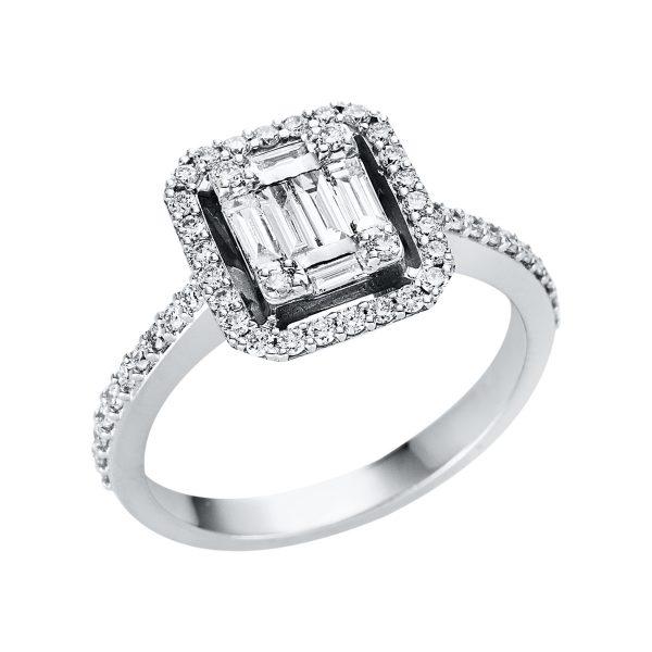 18 kt fehérarany illúzió 57 gyémánttal 1V337W853-1