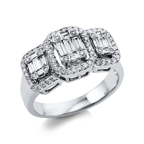 18 kt fehérarany illúzió 83 gyémánttal 1V365W854-1