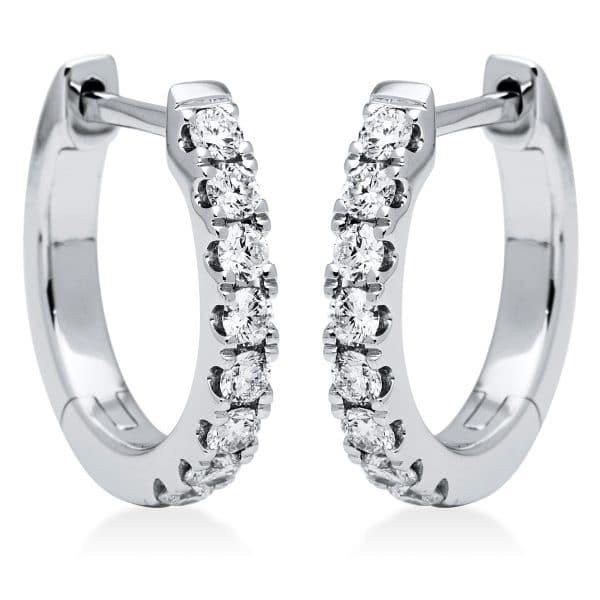 18 kt fehérarany karika és huggie 16 gyémánttal 2I826W8-2