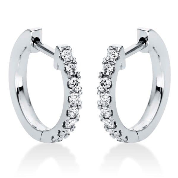 18 kt fehérarany karika és huggie 16 gyémánttal 2I986W8-2