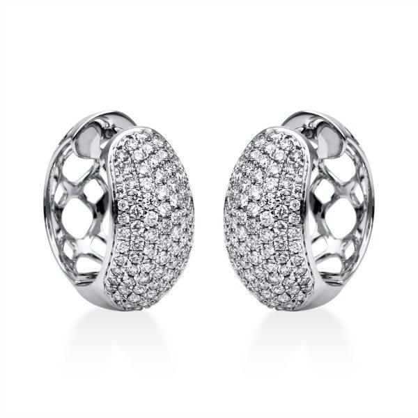 18 kt fehérarany karika és huggie 164 gyémánttal 2F565W8-1