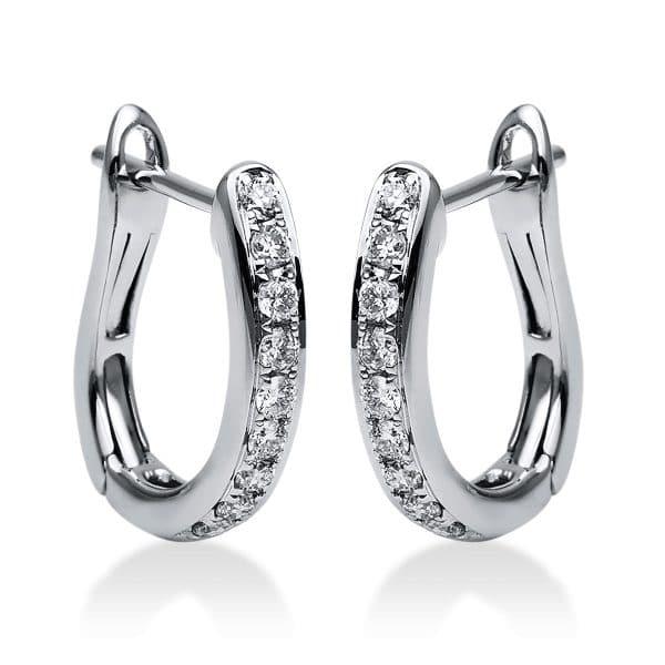 18 kt fehérarany karika és huggie 18 gyémánttal 2G958W8-1