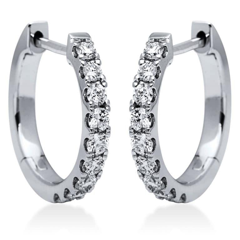 18 kt fehérarany karika és huggie 18 gyémánttal 2I832W8-1
