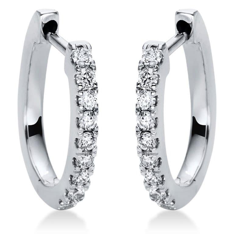 18 kt fehérarany karika és huggie 18 gyémánttal 2I873W8-2