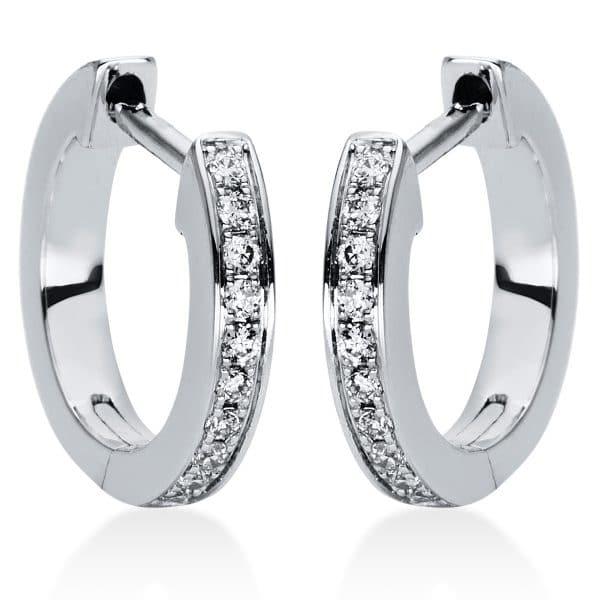 18 kt fehérarany karika és huggie 20 gyémánttal 2I877W8-3