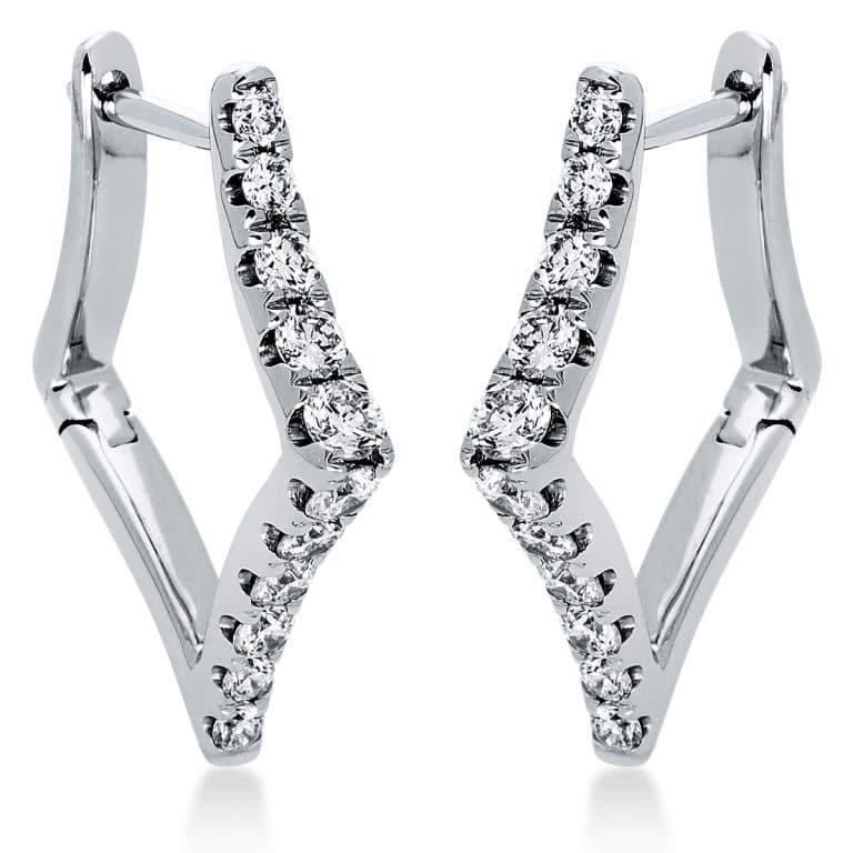 18 kt fehérarany karika és huggie 22 gyémánttal 2I577W8-1