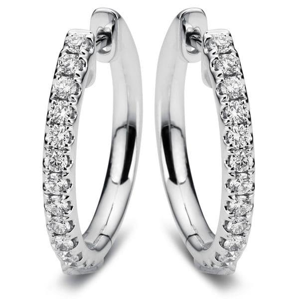 18 kt fehérarany karika és huggie 26 gyémánttal 2A384W8-3