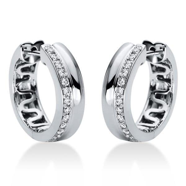 18 kt fehérarany karika és huggie 26 gyémánttal 2I978W8-1