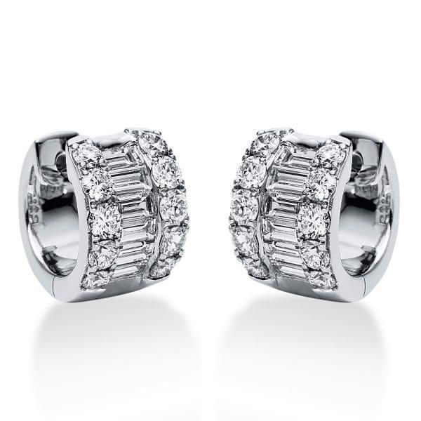 18 kt fehérarany karika és huggie 32 gyémánttal 2J199W8-1