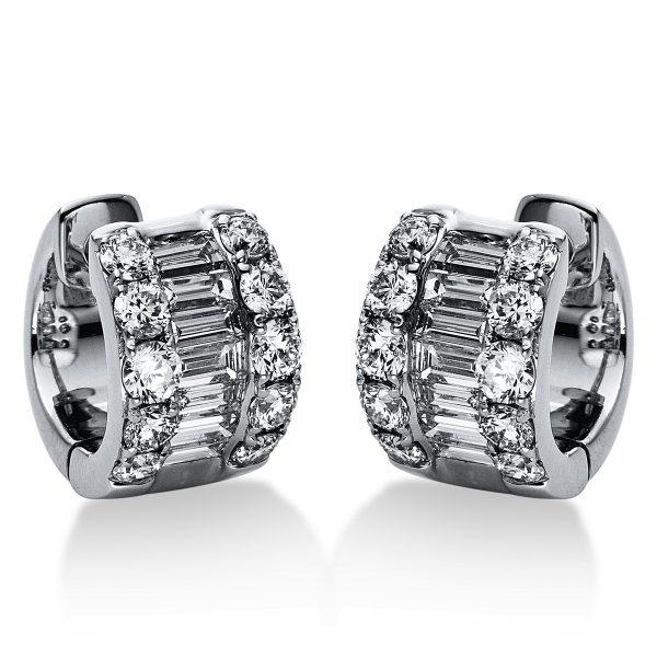 18 kt fehérarany karika és huggie 34 gyémánttal 2H391W8-1