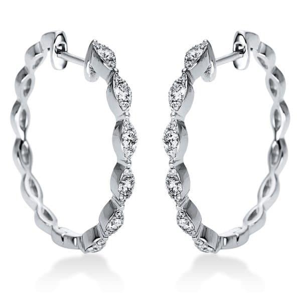 18 kt fehérarany karika és huggie 36 gyémánttal 2J004W8-1
