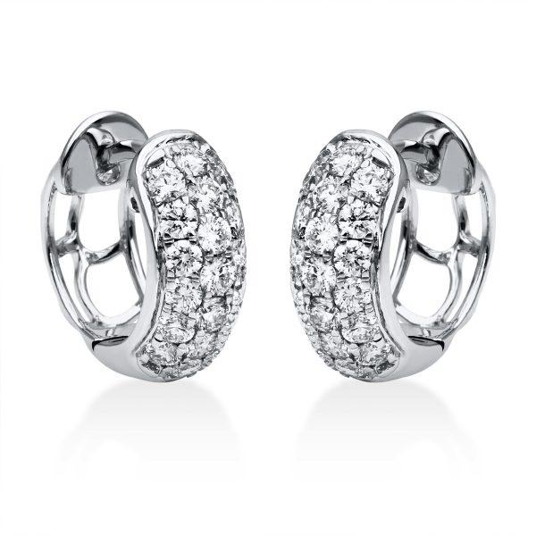 18 kt fehérarany karika és huggie 38 gyémánttal 2F276W8-2