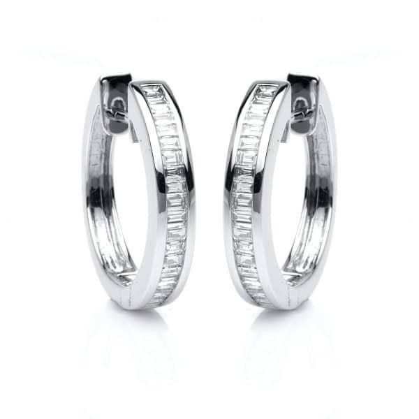 18 kt fehérarany karika és huggie 40 gyémánttal 2B217W8-3