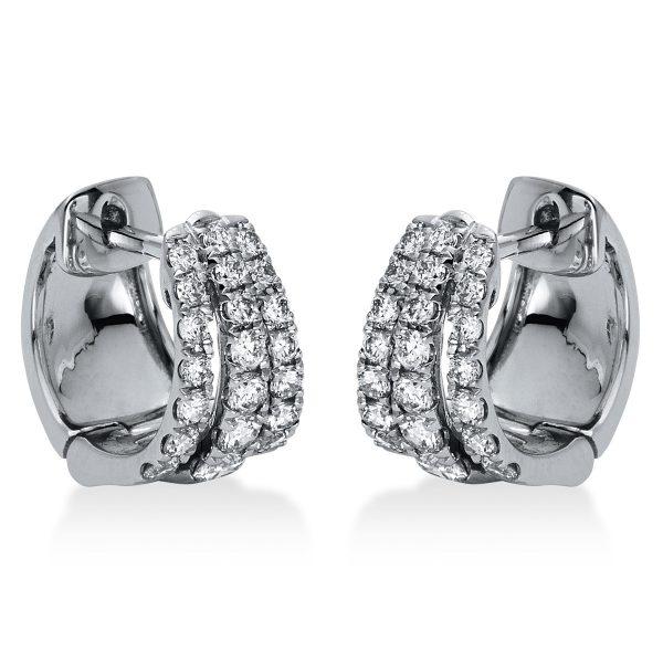 18 kt fehérarany karika és huggie 42 gyémánttal 2H959W8-1