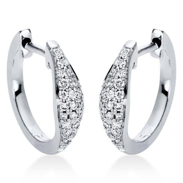 18 kt fehérarany karika és huggie 42 gyémánttal 2I973W8-1