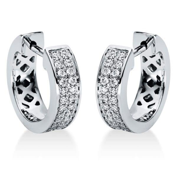 18 kt fehérarany karika és huggie 48 gyémánttal 2I968W8-3