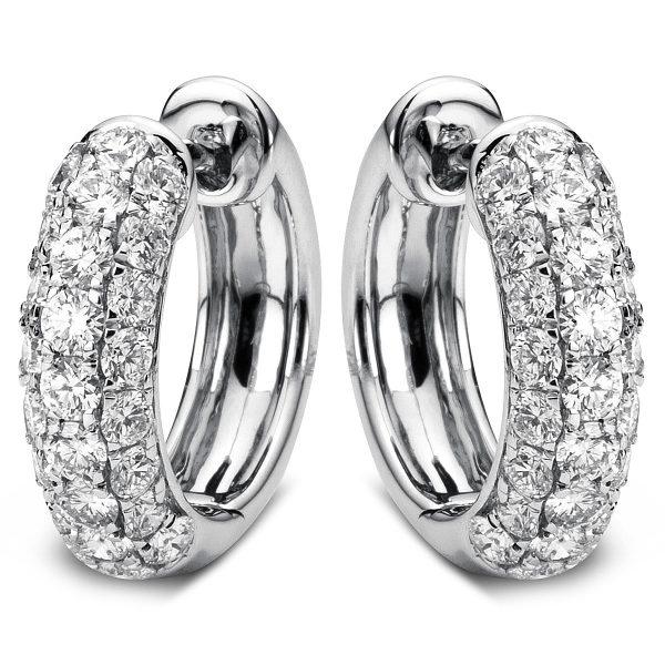18 kt fehérarany karika és huggie 50 gyémánttal 2A067W8-2