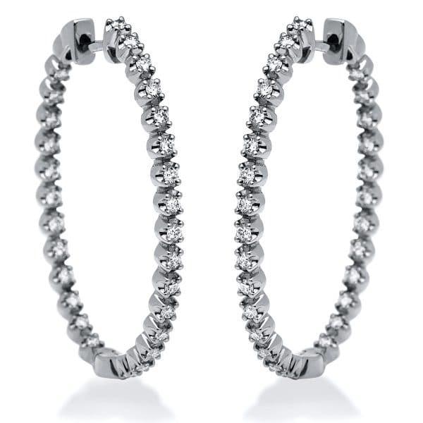 18 kt fehérarany karika és huggie 56 gyémánttal 2I192W8-1
