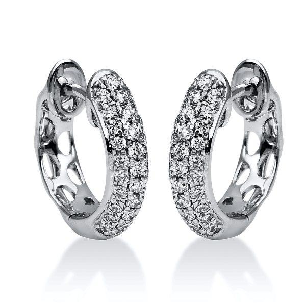 18 kt fehérarany karika és huggie 62 gyémánttal 2F051W8-1