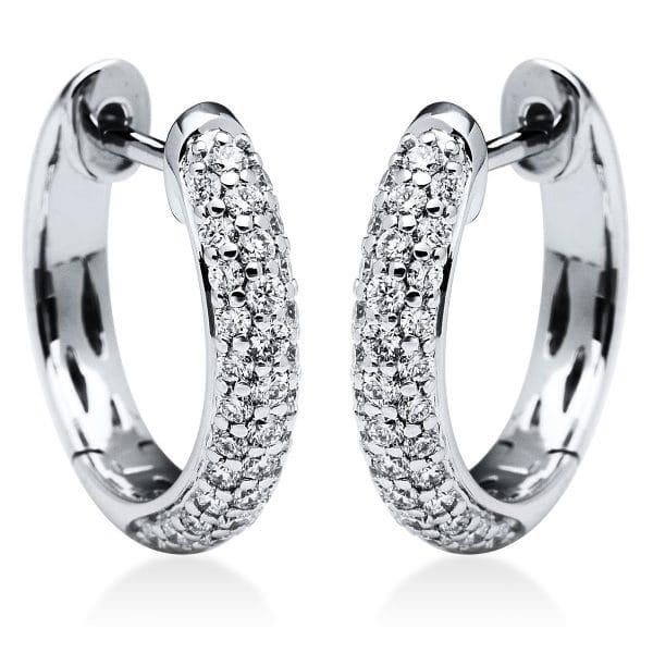 18 kt fehérarany karika és huggie 74 gyémánttal 2I827W8-2