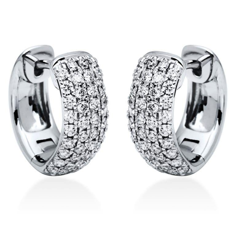 18 kt fehérarany karika és huggie 76 gyémánttal 2I831W8-1