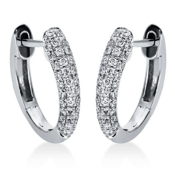 18 kt fehérarany karika és huggie 88 gyémánttal 2I981W8-5