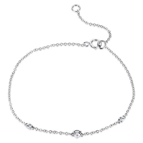 18 kt fehérarany karkötő 3 gyémánttal 5A300W8-1
