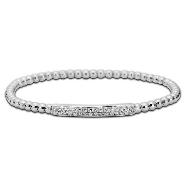 18 kt fehérarany karkötő 32 gyémánttal 5A013W8-5