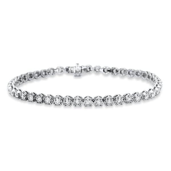 18 kt fehérarany karkötő 45 gyémánttal 5C023W8-1