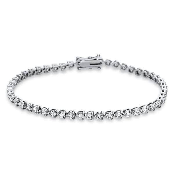 18 kt fehérarany karkötő 49 gyémánttal 5C027W8-1