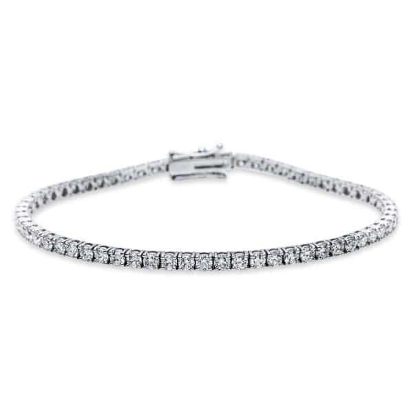 18 kt fehérarany karkötő 62 gyémánttal 5B931W8-1