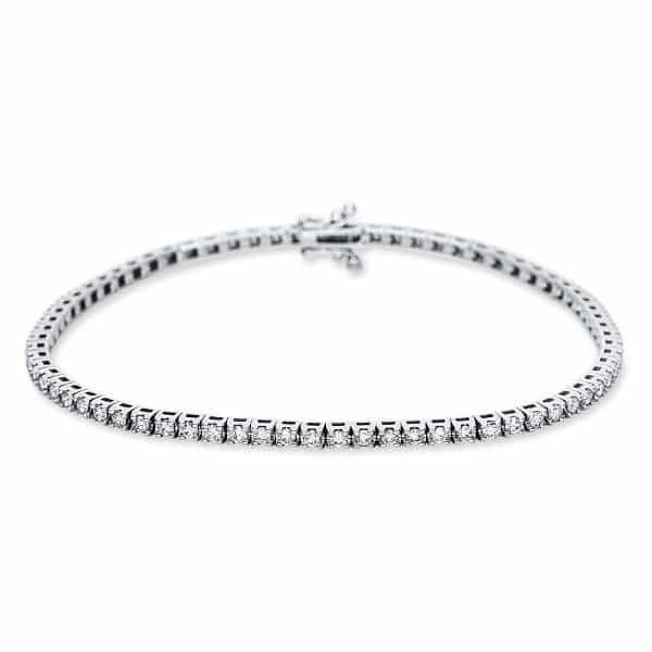 18 kt fehérarany karkötő 66 gyémánttal 5B983W8-6
