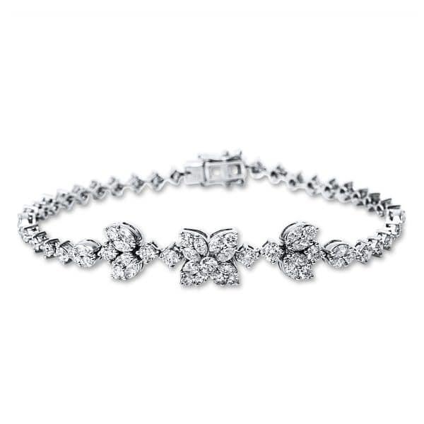 18 kt fehérarany karkötő 74 gyémánttal 5C076W8-1