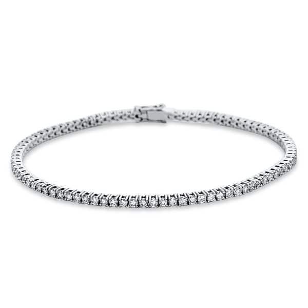 18 kt fehérarany karkötő 87 gyémánttal 5C003W8-1