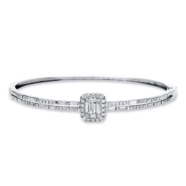 18 kt fehérarany karperec 84 gyémánttal 6A583W8-1