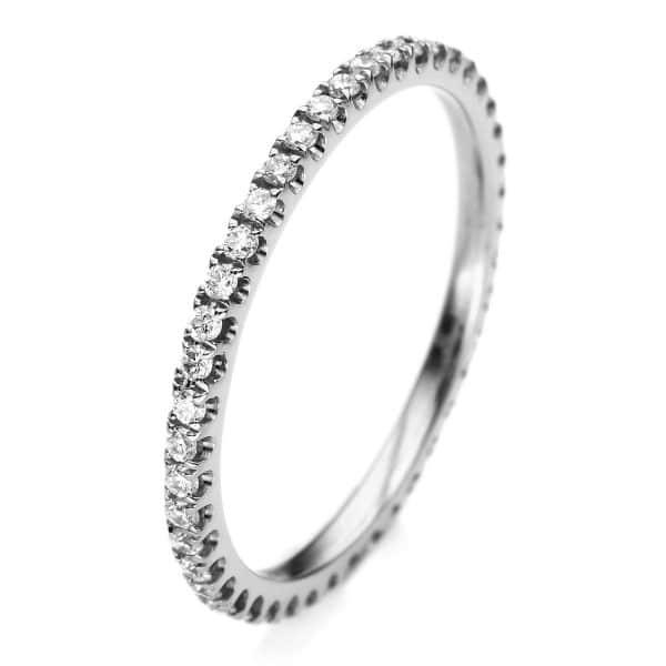 18 kt fehérarany körbe köves eternity 34 gyémánttal 1A901W854-20