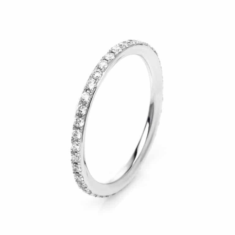 18 kt fehérarany körbe köves eternity 39 gyémánttal 1K455W854-1