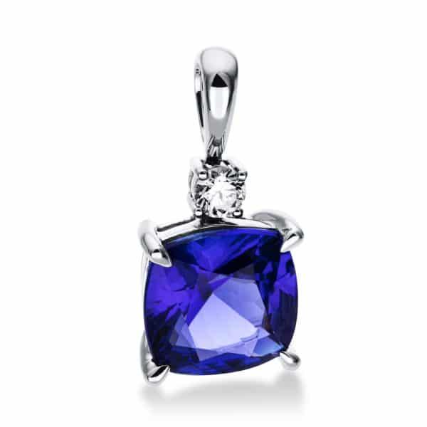 18 kt fehérarany medál 1 gyémánttal