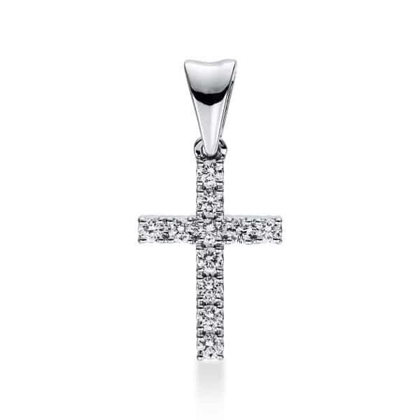 18 kt fehérarany medál 11 gyémánttal 3D812W8-2