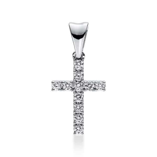 18 kt fehérarany medál 11 gyémánttal 3D812W8-5
