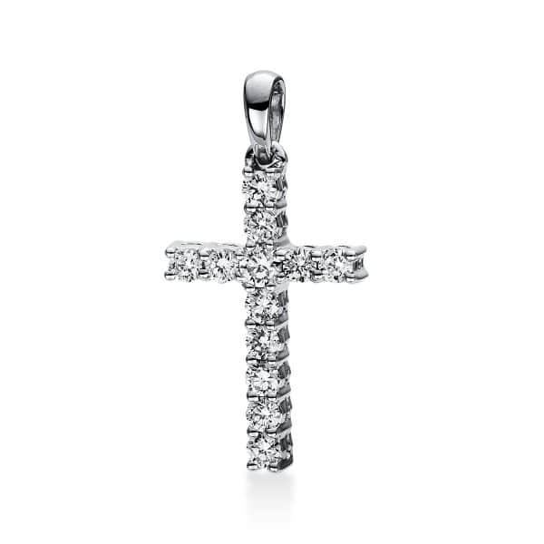 18 kt fehérarany medál 12 gyémánttal 3D816W8-3