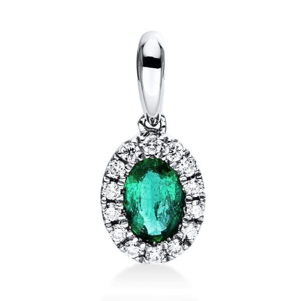 18 kt fehérarany medál 14 gyémánttal