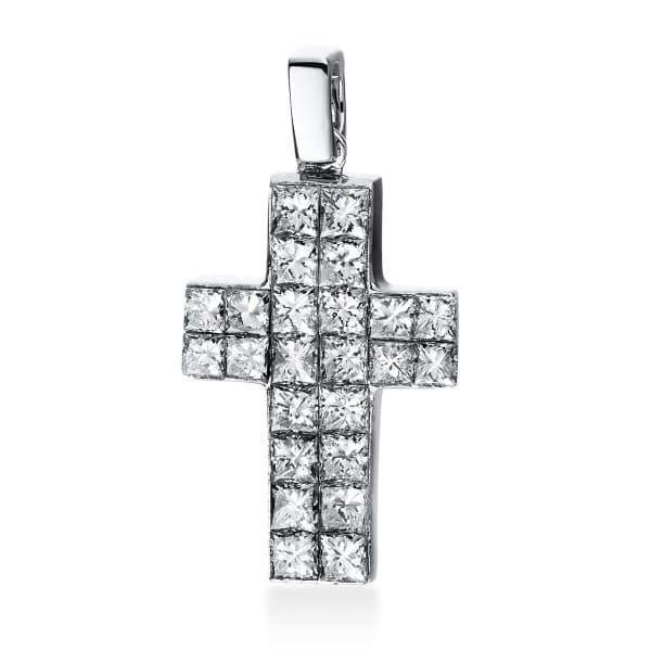 18 kt fehérarany medál 24 gyémánttal 3D558W8-1