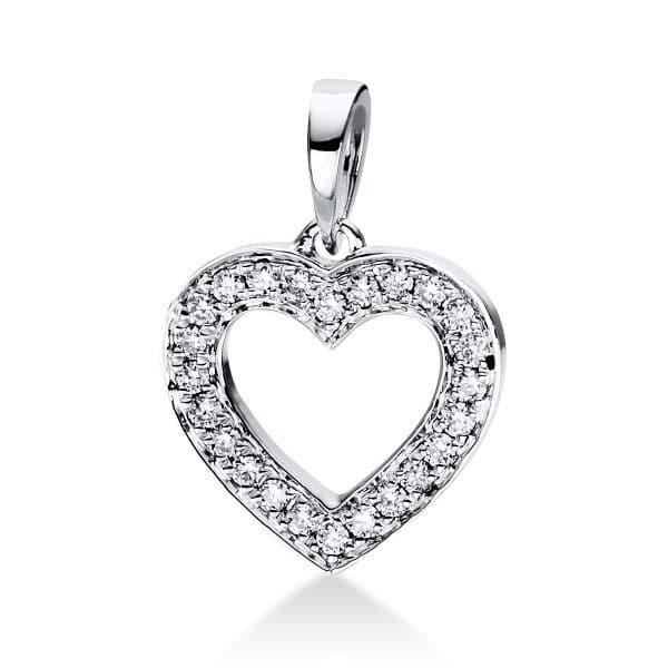 18 kt fehérarany medál 24 gyémánttal 3D813W8-5